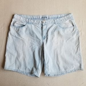 Faded Glory embroidered jean shorts sz 26w